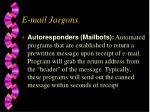 e mail jargons