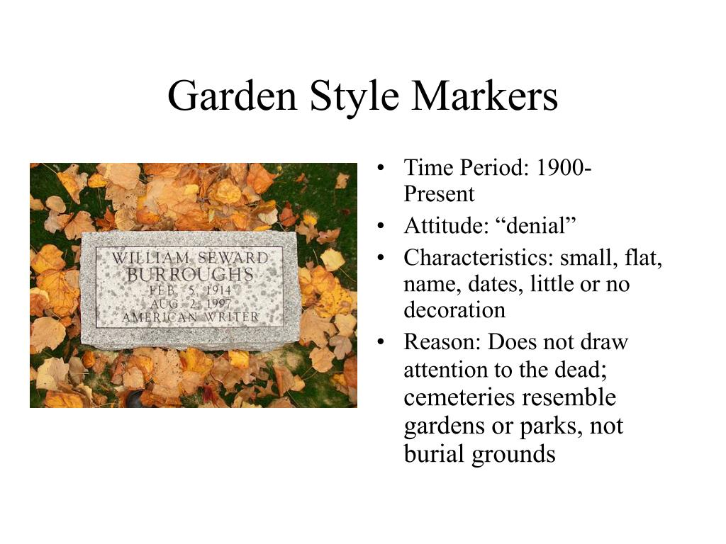 Garden Style Markers