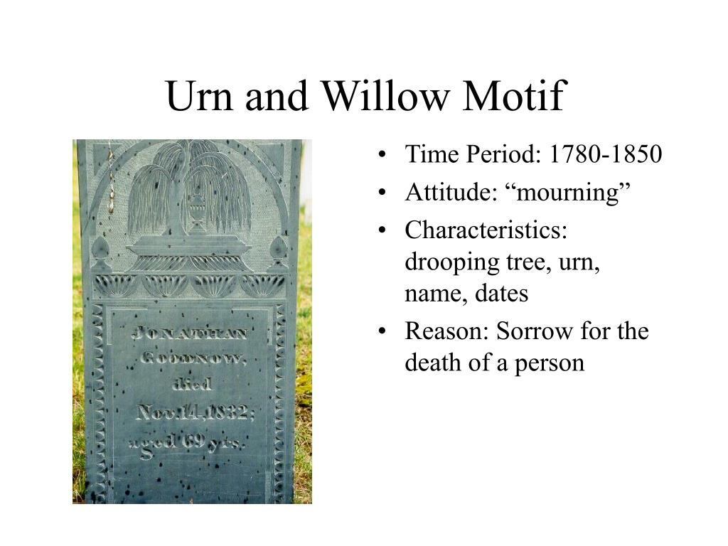 Urn and Willow Motif