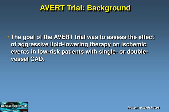 Avert trial background