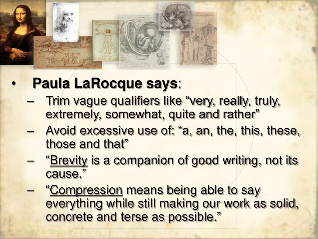 Paula LaRocque says