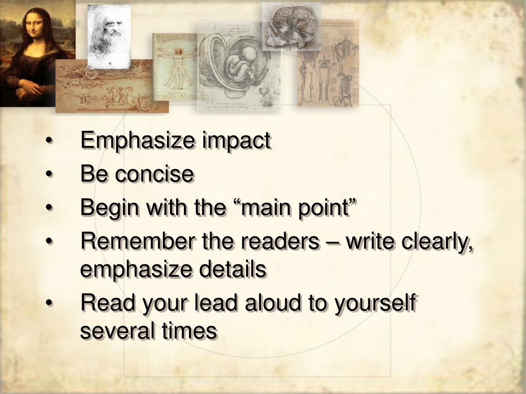 Emphasize impact