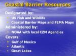 coastal barrier resources
