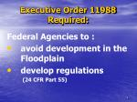 executive order 11988 required