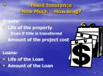 flood insurance how much how long