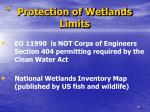 protection of wetlands limits