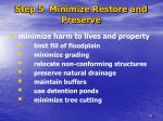 step 5 minimize restore and preserve