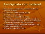 post operative care continued1
