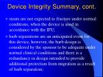 device integrity summary cont
