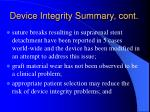 device integrity summary cont18