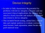 device integrity