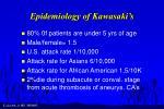 epidemiology of kawasaki s