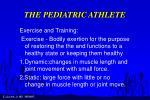 the pediatric athlete