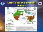 latest seasonal drought outlook