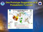 one prototype suggestion of a probabilistic forecast