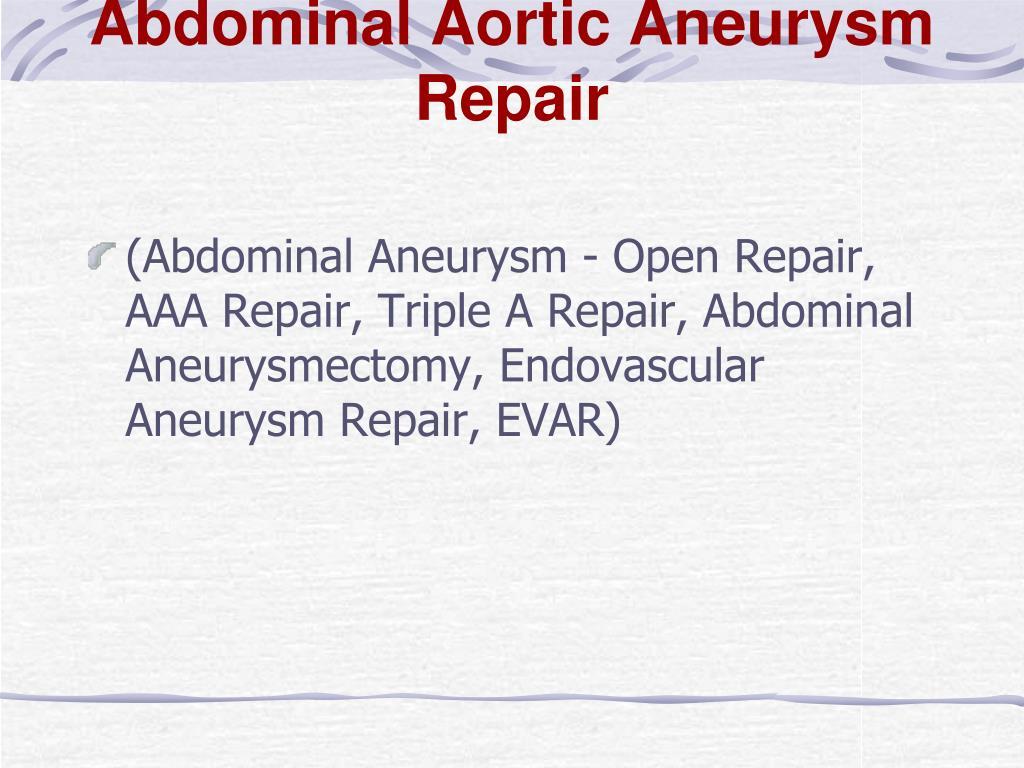 Abdominal Aortic Aneurysm Repair