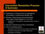 convention resolution process a summary