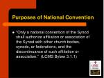 purposes of national convention2
