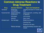 common adverse reactions to drug treatment44