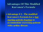 advantages of this modified karvonen s formula