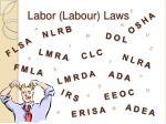 labor labour laws