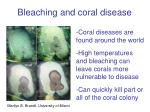 bleaching and coral disease