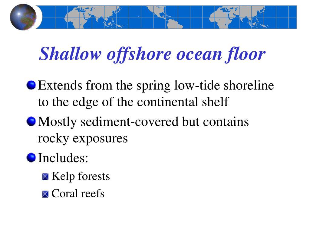 Shallow offshore ocean floor