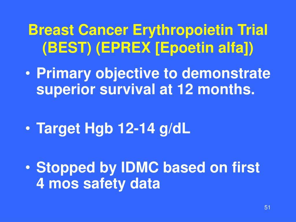 Breast Cancer Erythropoietin Trial (BEST) (EPREX [Epoetin alfa])