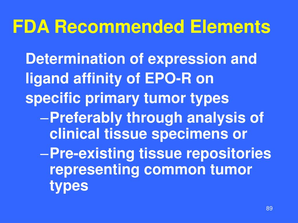 FDA Recommended Elements