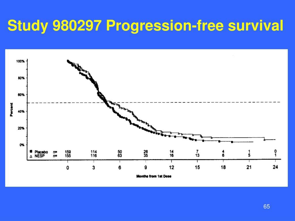Study 980297 Progression-free survival
