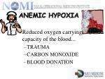 anemic hypoxia