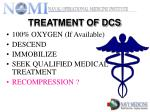 treatment of dcs