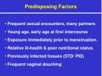 predisposing factors