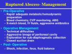 ruptured abscess management
