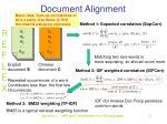 document alignment