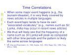 time correlations