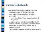 cardiac cath results