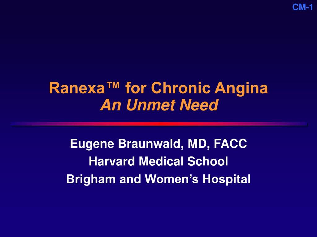 ranexa for chronic angina an unmet need l.