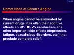 unmet need of chronic angina11