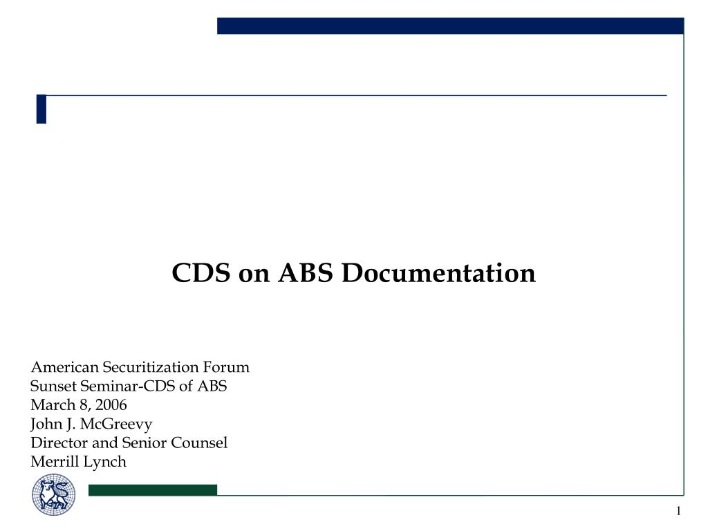 cds on abs documentation l.
