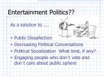 entertainment politics