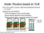 aside routers based on vlb