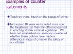 examples of counter statements