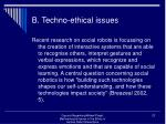 b techno ethical issues23