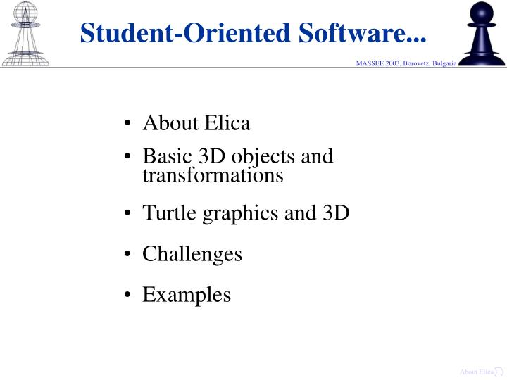 Student oriented software