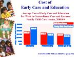cost of early care and education