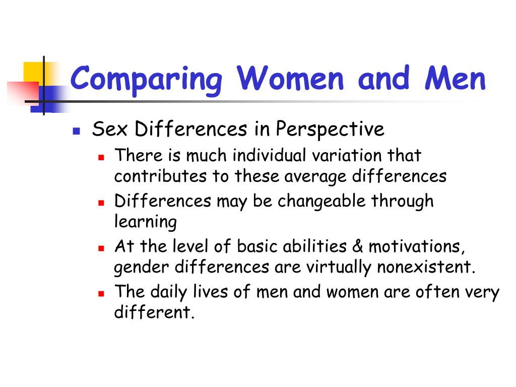 Comparing Women and Men