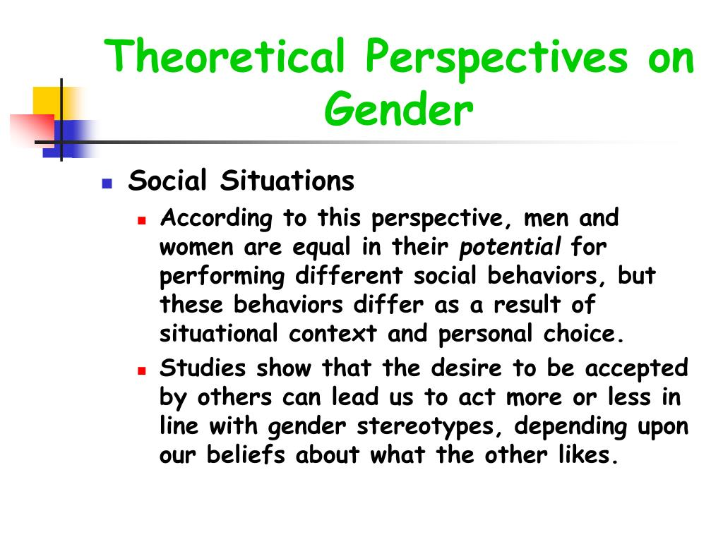 Theoretical Perspectives on Gender