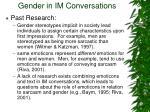 gender in im conversations
