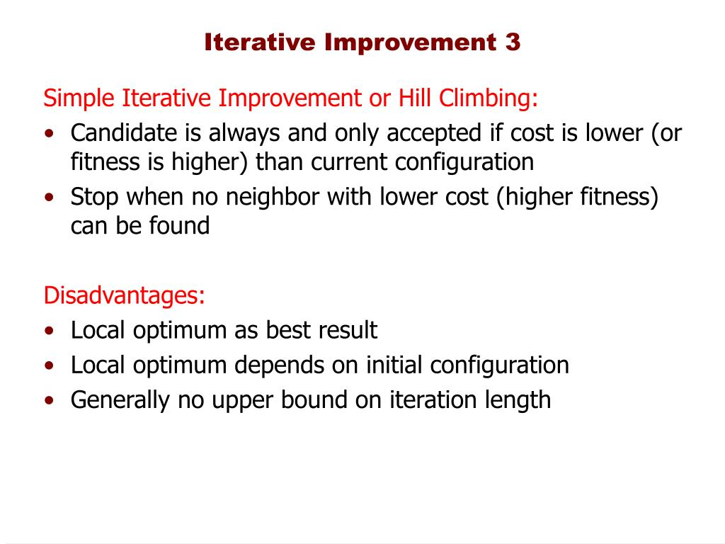 Iterative Improvement 3
